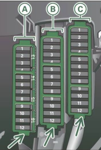 audi a4 2011 2012 fuse box diagram auto genius. Black Bedroom Furniture Sets. Home Design Ideas