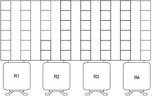 BMW 3 Series E36 и E35 / 5-схема блока предохранителей-прокладка разъема под RH-стороной приборной панели