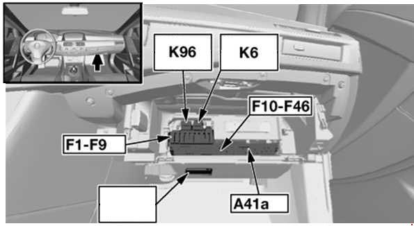 BMW 6 Series E63 E64 2004 2010 fuse box diagram