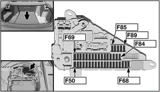 bmw 6 series e63 e64 fuse box diagram in rear 2 2004 2007 bmw 650i fuse diagram wiring diagram library