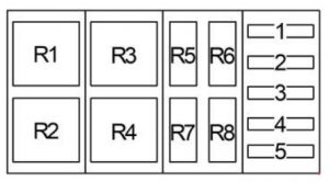 Ford-F-650 - fuse box diagram - additional relay box 2