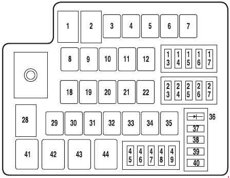 ford fusion - fuse box diagram - engine compartment fuse box (only hybrid)