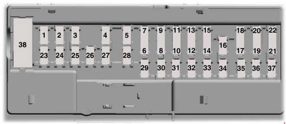 [DIAGRAM_5LK]  Ford Fusion (from 2013) - fuse box diagram (American Version) - Auto Genius | 2013 Ford Fusion Fuse Diagram |  | Auto Genius