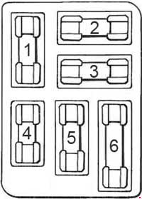 Ford Mustang (1964) - fuse box diagram - Auto Genius