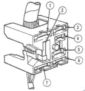 ford mustang  1969 - 1970  - fuse box diagram