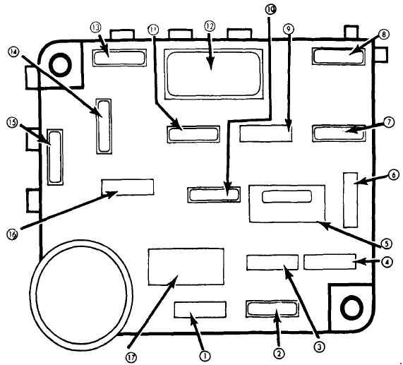 Ford Mustang  1979 - 1982  - Fuse Box Diagram