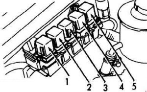 Infiniti G20 - fuse box diagram - engine compartment relay box