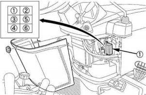 Kubota BX1870, BX2370, BS2670 - fuse box diagram