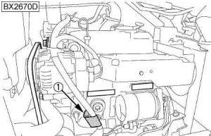 Kubota BX1870, BX2370, BS2670 - fuse box diagram - slow blow fuse