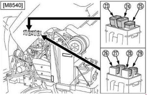 Kubota Power Krawler M8540 Narrow - fuse box diagram