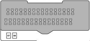 Lexus RX 330 - fuse box diagram - passenger compartment fuse box