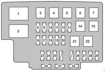 lexus rx 330 2004 2006 fuse box diagram auto genius. Black Bedroom Furniture Sets. Home Design Ideas