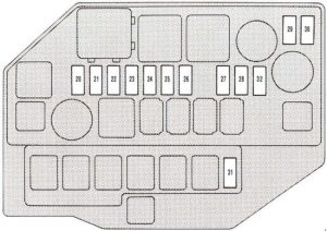 Lexus SC 400     Z30      1991     2000      fuse box    diagram      Auto Genius