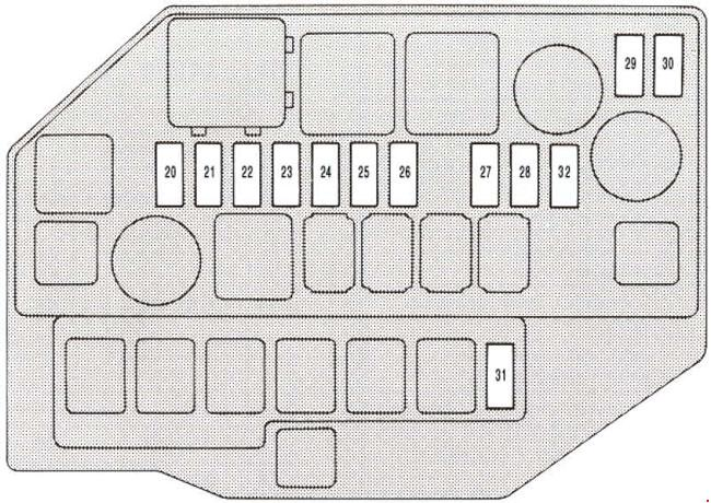 Lexus Sc 400  Z30   1991 - 2000  - Fuse Box Diagram