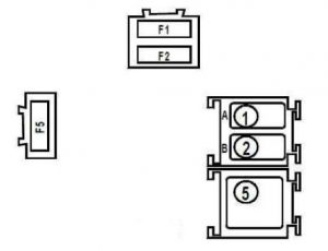 Renault Kangoo - fuse box diagram - engine compartment