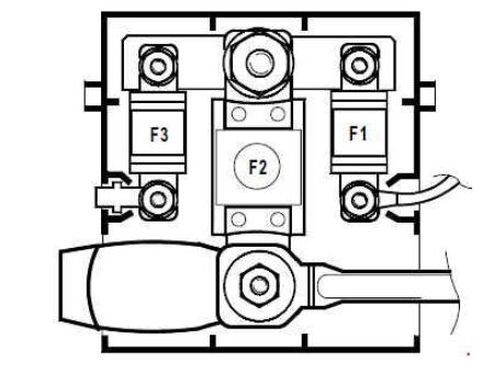renault megane - fuse box diagram - engine compartment