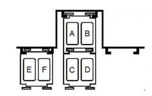 Renault Megane - fuse box diagram - K4M