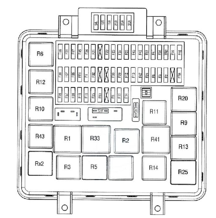 renault-midlum-fuse-box-diagram-2005 Where Is Fuse Box On Renault Master on