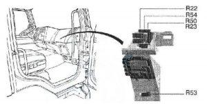 Renault Midlum - fuse box diagram - relay