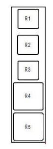 Renault Modus - fuse box diagram - optional relay board