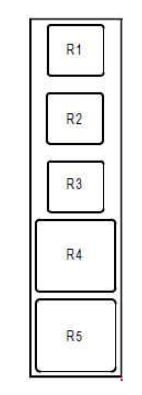 renault modus  2004 - 2007  - fuse box diagram