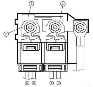 Renault Modus - fuse box diagram - protective positive battery unit
