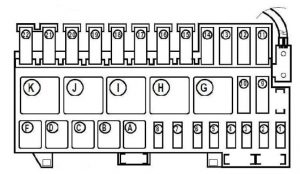 Renault Scenic - fuse box diagram - engine  compartment