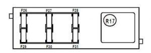 Renault Vel Satis - fuse box diagram - above UCH