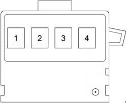 Scion xB - fuse box diagram - fusible link block