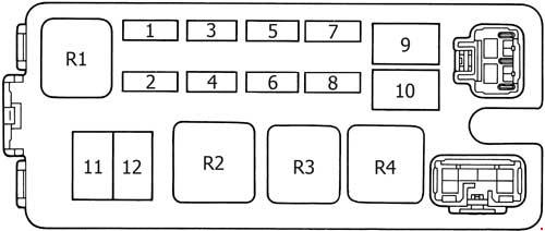 toyota 4runner  1989 - 1995  - fuse box diagram