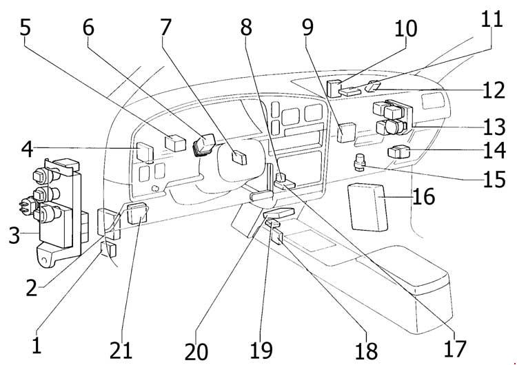 Toyota fuse box diagram 1990 4runner