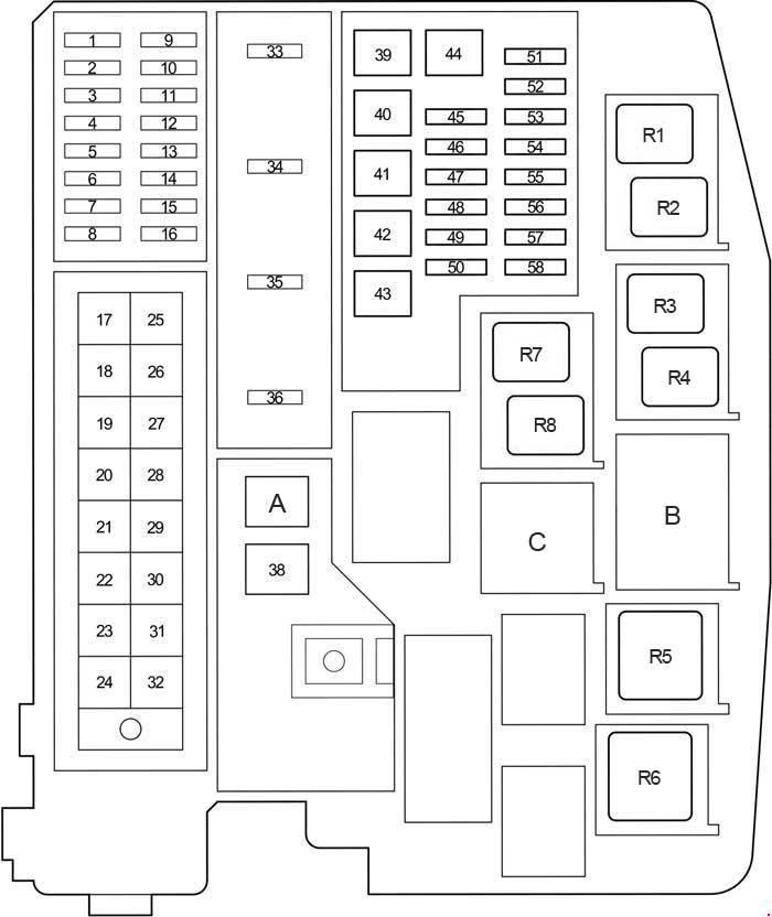 Toyota Avensis T270  2009- 2017  - Fuse Box Diagram
