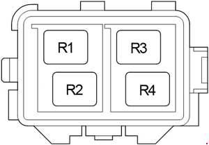 Toyota Avensis - fuse box diagram - engine compartment relay box