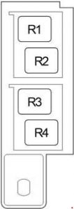 Toyota Avensis - fuse box diagram - passenger compartment relay box