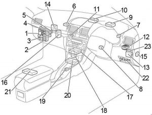 toyota avensis t250 (2003- 2009) - fuse box diagram - auto ... fuse box toyota avensis 2007 fuse box infiniti g35 2007