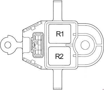 toyota avensis  1997 - 2002  - fuse box diagram