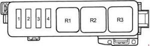 Toyota Camry - fuse box diagram - engine compartment 1MZ-FE, 3VZ-FE