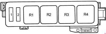 toyota camry - fuse box diagram - engine compartment - 5s-fe