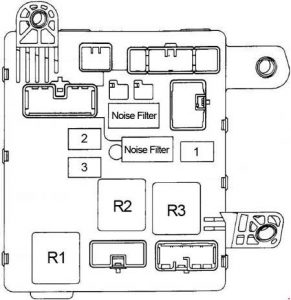 Toyota Camry - fuse box diagram - passenger compartment fuse box