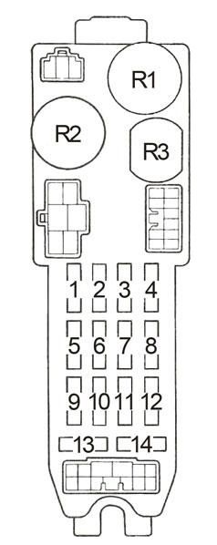 toyota corolla ae86  1983 - 1987  - fuse box diagram