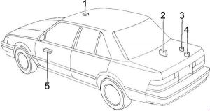 Toyota Cressida - fuse box diagram