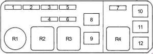 Toyota Cressida - fuse box diagram - engine compartment fuse box