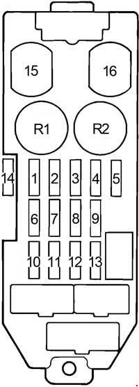 Toyota Cressida  1988 - 1998  - Fuse Box Diagram