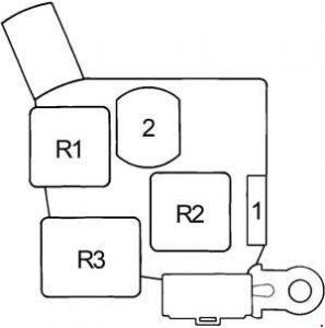 Toyota Cressida - fuse box diagram - passenger compartment relay box