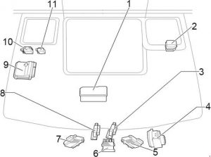 Toyota HiAce - fuse box diagram - engine comaprtment