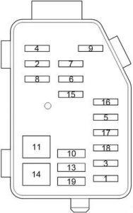Toyota HiAce - fuse box diagram - engine comaprtment additional box