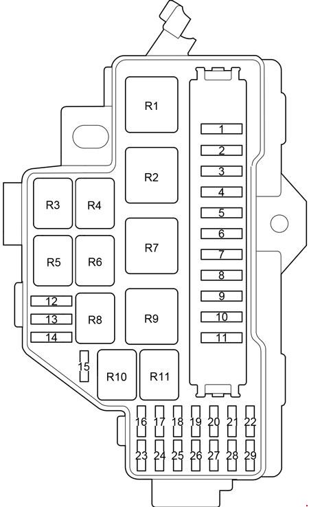 toyota hiace  2013 - 2018  - fuse box diagram