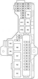 Toyota HiAce - fuse box diagram - passenger comaprtment additional box RHD