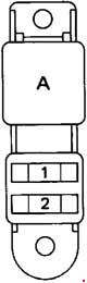 Toyota Hilux - fuse box diagram - additional fuse box