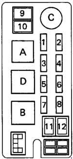 toyota hilux (1993) – fuse box diagram